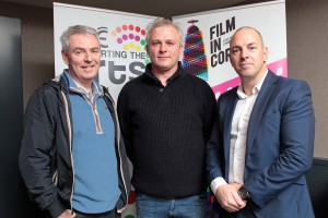 DC 15/11/2015 - REPRO FREE FREE PIC Pictured are Colm Crowley, Head of RTE Cork, Rossa Mullin, CEO of Film in Cork, and Bill Malone, Channel Controller of RTE 2, at the River Lee Hotel as part of Cork Film Festival's celebrations last year. Pic: Diane Cusack