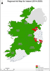 Regional Map Of Ireland.5 Regional Uplift Issue Background Further Information Film
